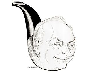 Fritjof Sørensen karikatur tegning