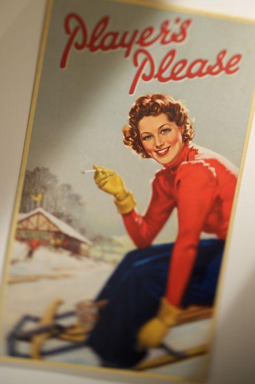 Norsk Tobakks reklame plakat fra 1950 tallet